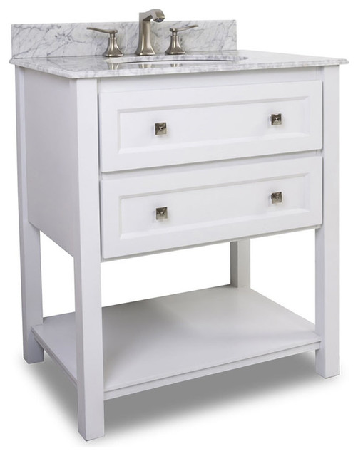Hardware Resources Bath Elements Van066-T-Mw Adler White Vanity.