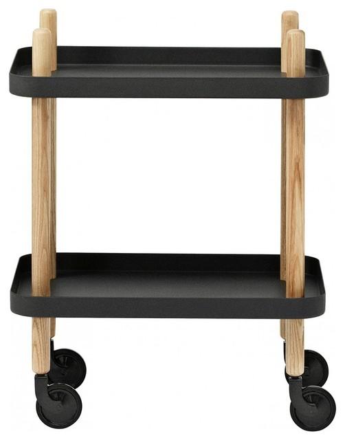 Block Table Trolley, Black
