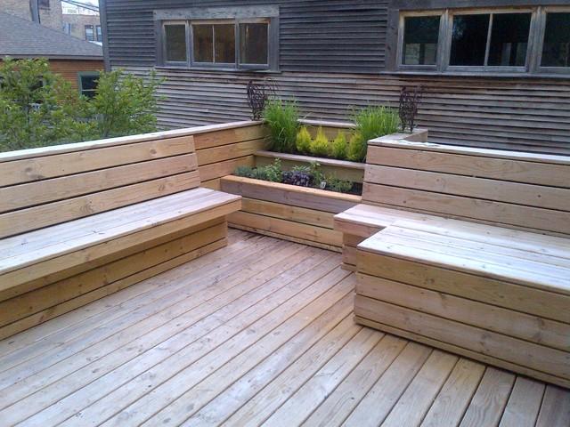 Contemporary Deck Design Built Contemporary Deck