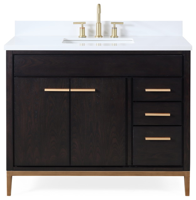 42 Beatrice Modern Brown Bathroom Vanity Contemporary Bathroom Vanities And Sink Consoles By Chans Furniture Houzz