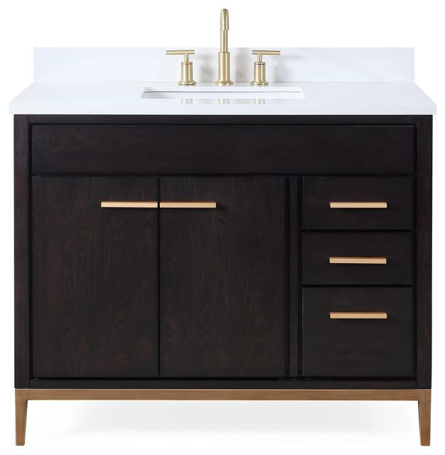 Modern Brown Bathroom Vanity