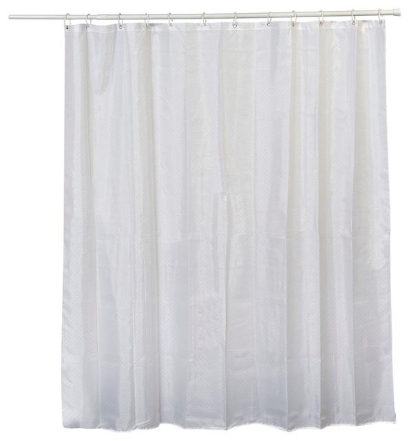 Design Fabric Shower Curtain Lux Polyester Rhinestone 71x79 White