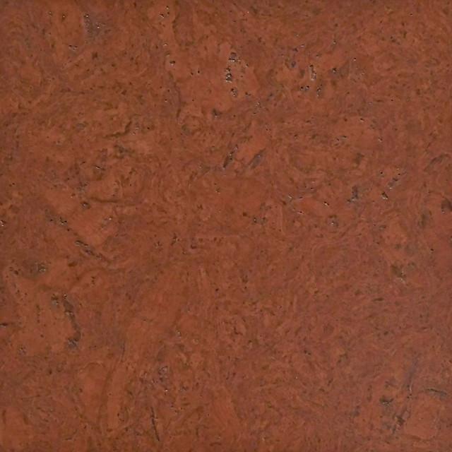 Terra Cotta Colored Cork Tiles In Nugget Texture