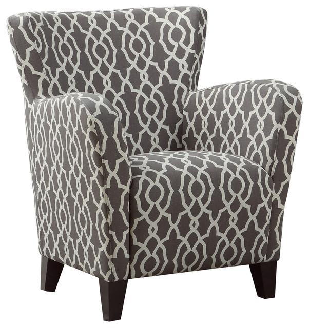 Monarch Specialties Inc Accent Chair Gray Beige Quot Wave