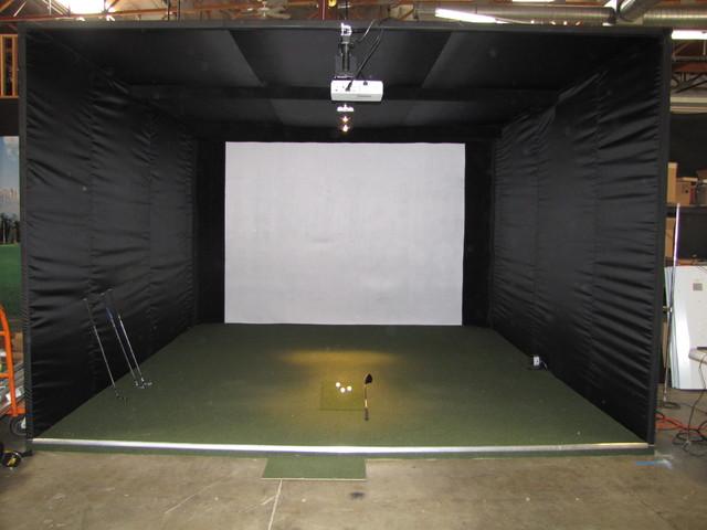Custom indoor golf rooms phoenix by indoor golf design for Indoor golf design