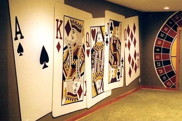 casino mural by tom taylor of mural art llc in a maryland home. Black Bedroom Furniture Sets. Home Design Ideas