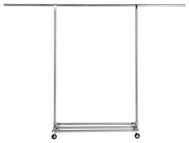 Lifewit Commercial Grade Collapsible Clothing Rolling Double Garment Rack Hanger.