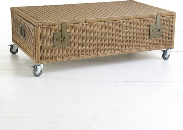 Attractive Wicker Trunk Coffee Table Traditional Coffee Tables