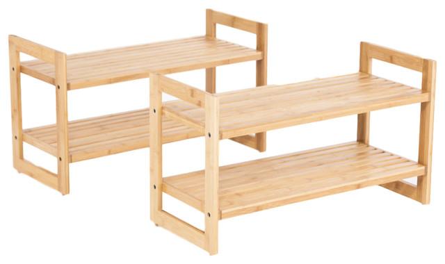 Trinity Bamboo Shoe Rack, Set Of 2