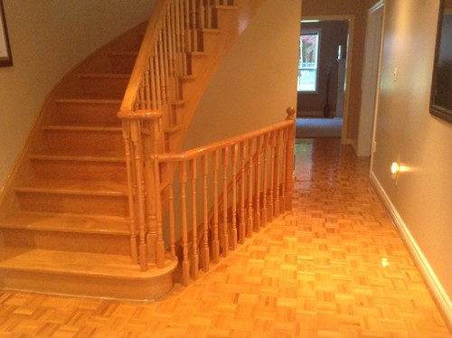 The Yellow Oak Is Very Dated. I Love Contemporary Style. If Anyone Can Send  Pictures Of Their Stair Makeovers And Approx Cost That Would Be Great!