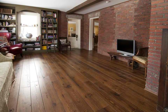 Antique Hardwood Flooring bruce hardwood flooring american originals antique natural hickory lock and fold 5 engineered ehk10lgz Antique Resawn Oak Hardwood Flooring Traditional