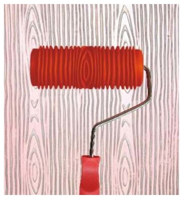 Embossed Paint Roller Wall Painting Runner Wall Decor Diy Tool Wood