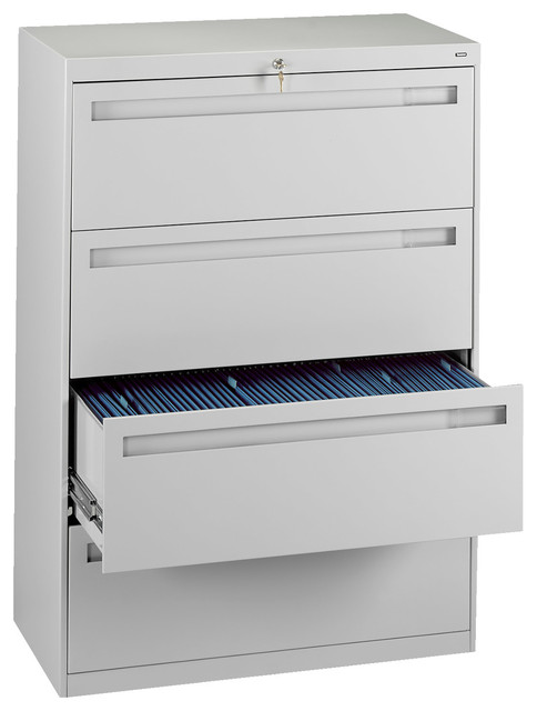 "Tennsco Corp. - 42"" 4-Drawer Lateral File Cabinet - View in Your Room! 