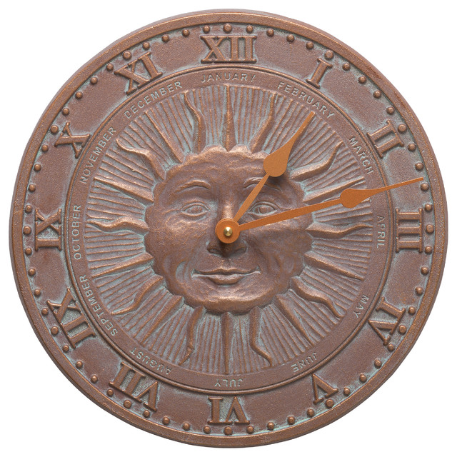 sunface 12 indoor outdoor wall clock outdoor clocks