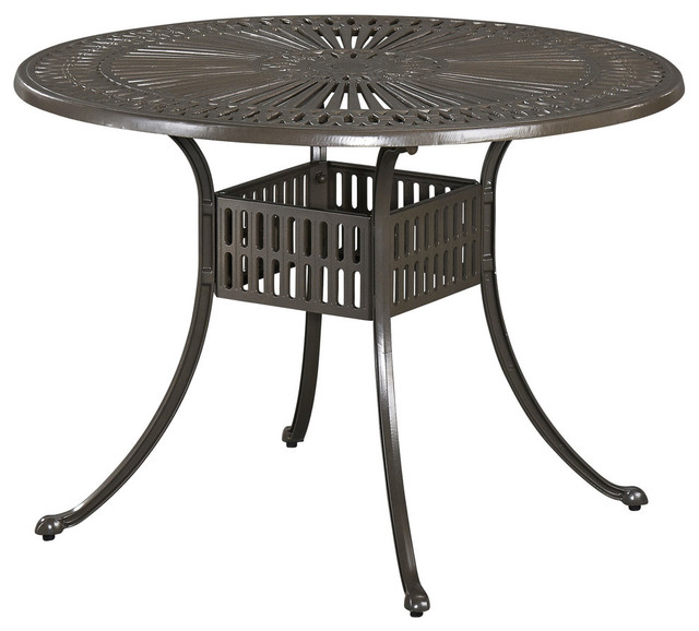 Largo Round Outdoor Dining Table 42 Traditional Outdoor Dining Tab
