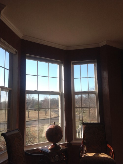 any ideas for bay window treatment for home office
