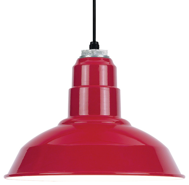 Warehouse Pendant, Red.