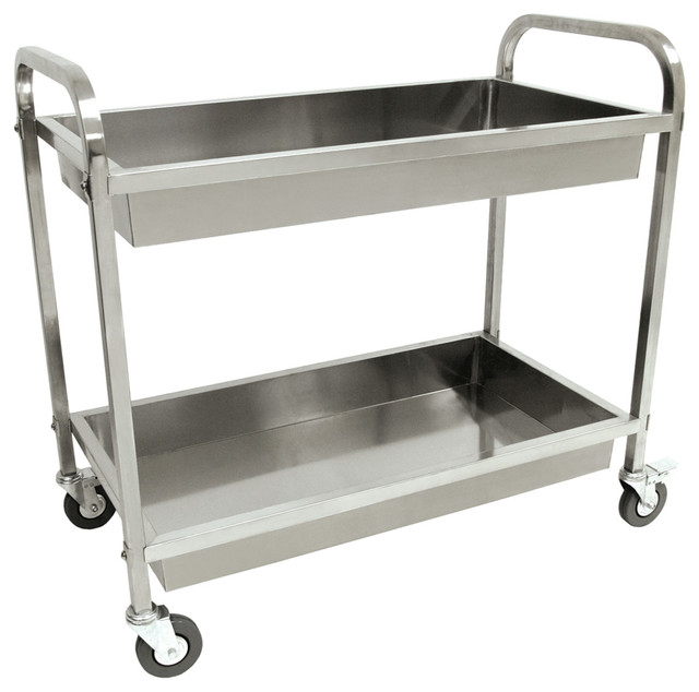 Stainless Serving Cart.