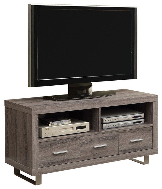 48 Tv Stand With 3 Drawers Contemporary Entertainment Centers