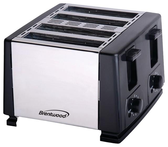 Brentwood 4-Slice Toaster, Black.