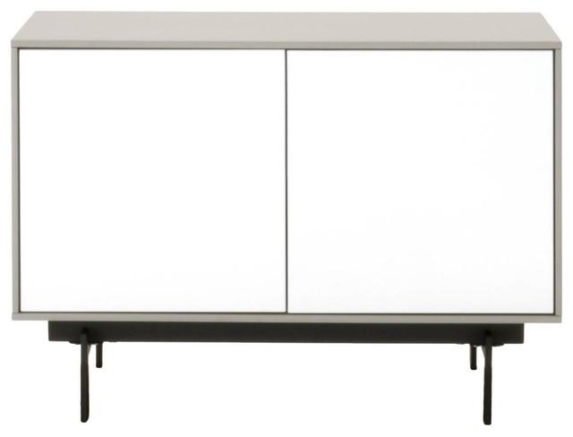 Symphony 2-Door Modular Tv Stand, Matte Light Gray.