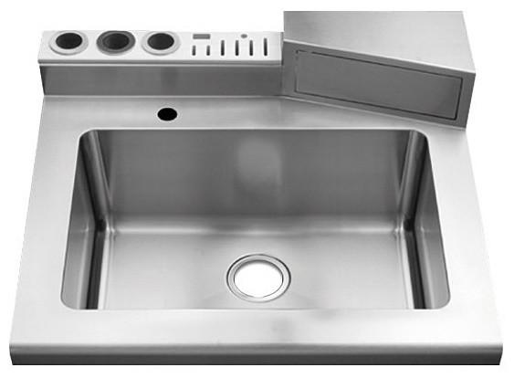 Worktop Bowl Kitchen Single Basin Sink