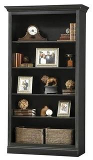 "85.75"" Center Bookcase, Antique Black"