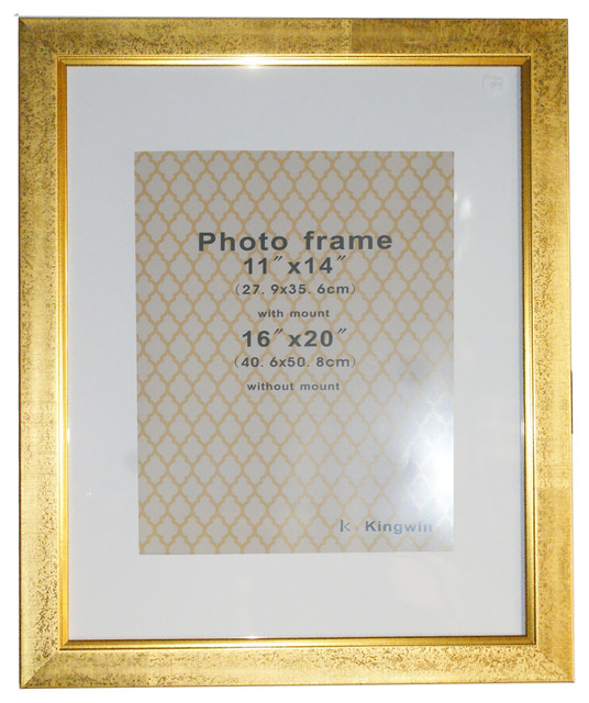 Gold Picture Frame White Mat