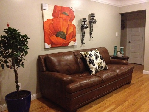 Great I Hate My Brown Leather Couch Now, But Have To Keep It.