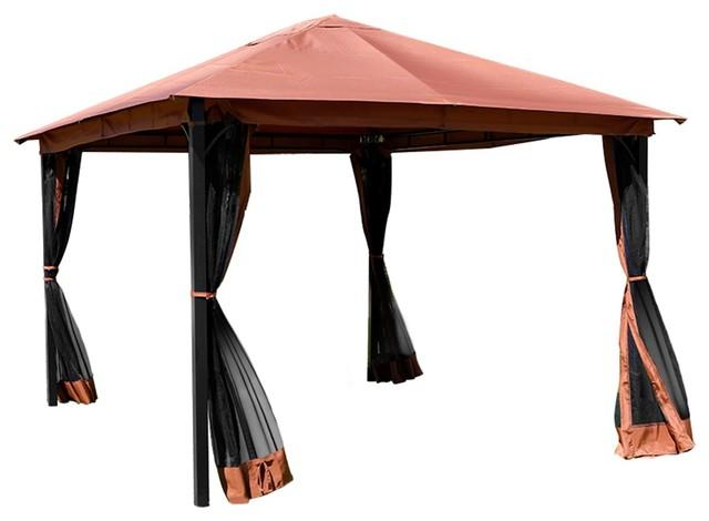 sale retailer a12da 9908e Outdoor 10' x 12' ft backyard garden awnings Patio Gazebo canopy tent  netting