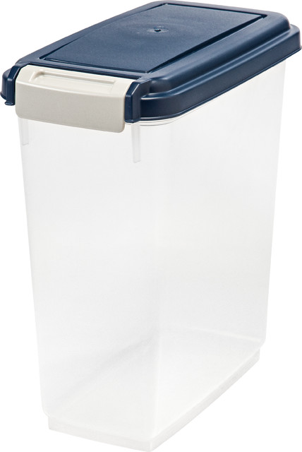 11 quart airtight pet food container blue containers