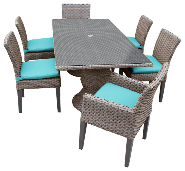 Shop houzz tkclassics harmony rectangular outdoor patio for Table 6 in as 3725