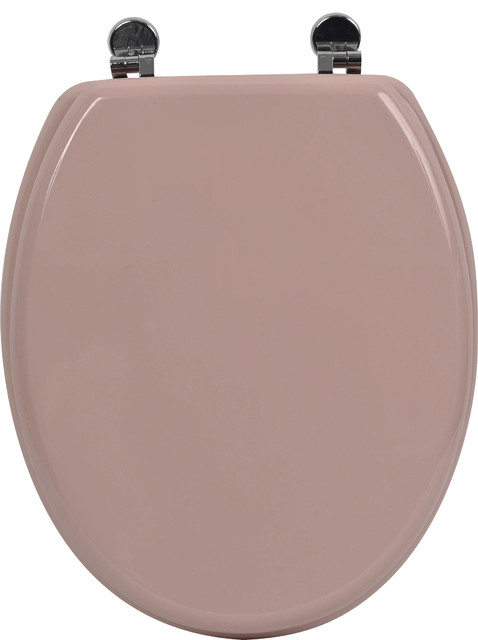 Oval Toilet Seat Pinky With Zinc Hinges 17 5 X Traditional