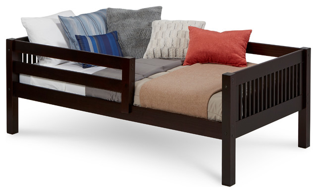 Camaflexi Twin Day Bed With Front Guard Rail Mission Headboard Craftsman Daybeds By Camaflexi