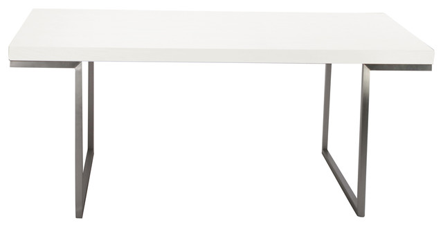 Repetir Dining Table White Lacquer