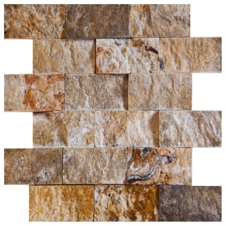 2 X 4 Scabos Split Face Tumbled Travertine Tiles On