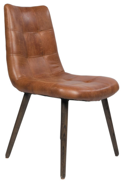 Alamo Tufted Leather Dining Chair Asian Dining Chairs By - Asian chair asian
