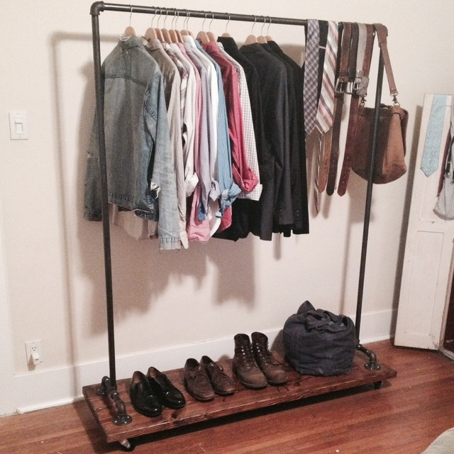Custom Garment Rack Rustic Clothes Racks Los Angeles