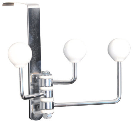 Over The Door 3 Arm Metal Swivel Hook Contemporary Towel Bars And Hooks