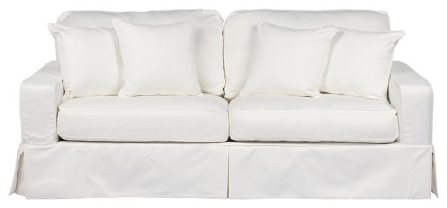 Box Cushion Sofa Slipcover Performance