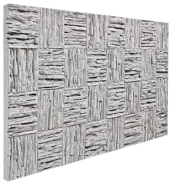 Woven Lava Rock Wall Panel, Gray.