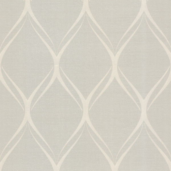Gustav Taupe Geometric Wallpaper Contemporary