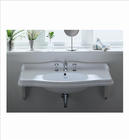 Whitehaus Ar864 Mnslen Wall Mount Bathroom Sink Traditional Bathroom Sinks