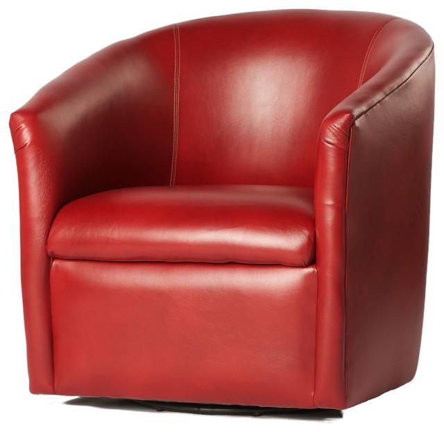 draper swivel chair red