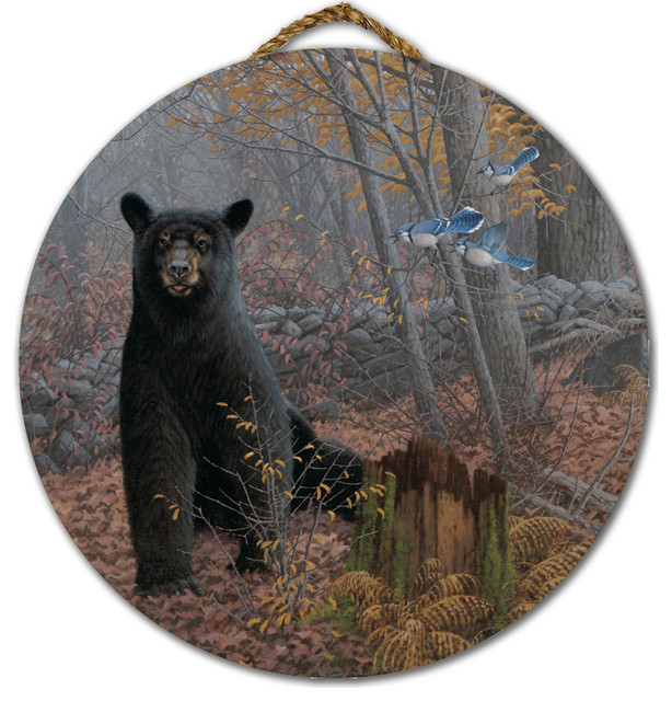 Round Wall Art, Stonewall Black Bear, 18\