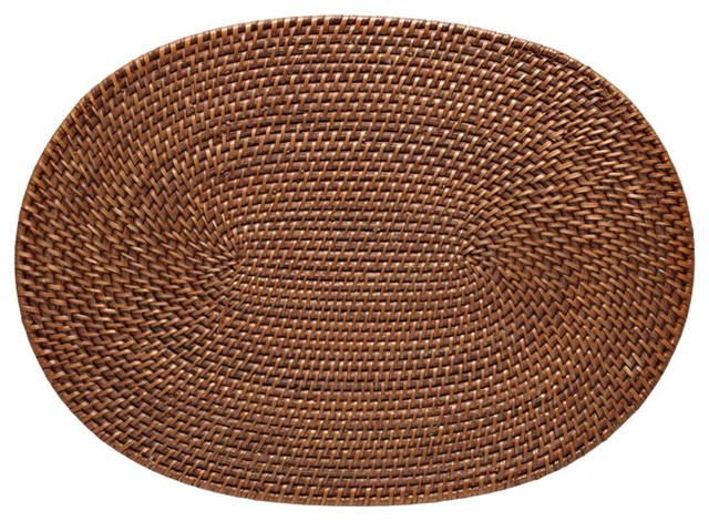 Kouboo Oval Rattan Placemat Set Of 2 Amp Reviews Houzz