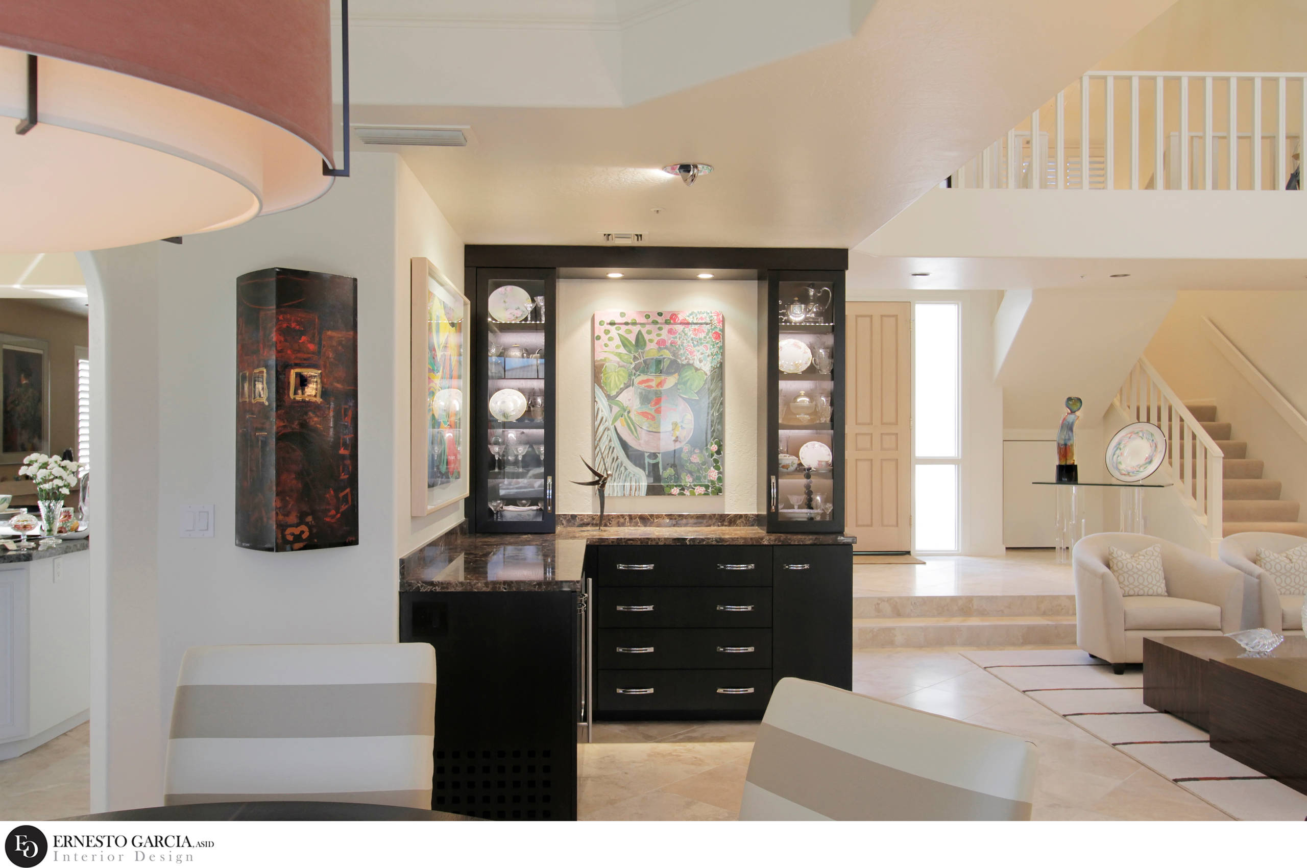 2012 FIRST PLACE WINNER * ASID AWARD - View of Buffet from Dining Table