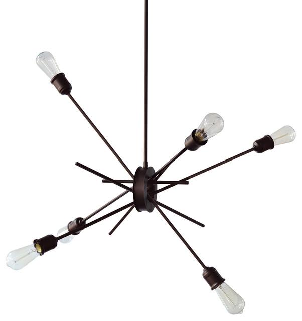 Nebraska 6-Light Chandelier, Espresso