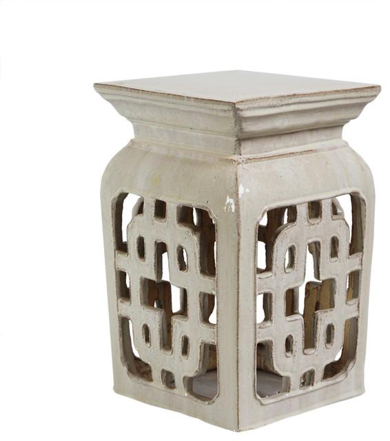 Brilliant White Ceramic Lattice Garden Stool Ibusinesslaw Wood Chair Design Ideas Ibusinesslaworg
