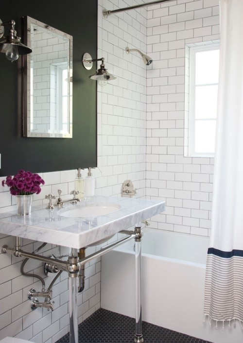 Black Accent Wall Bathroom